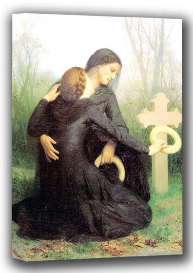 Bouguereau, William-Adolphe: All Souls Day. Fine Art Canvas. Sizes: A4/A3/A2/A1 (001783)